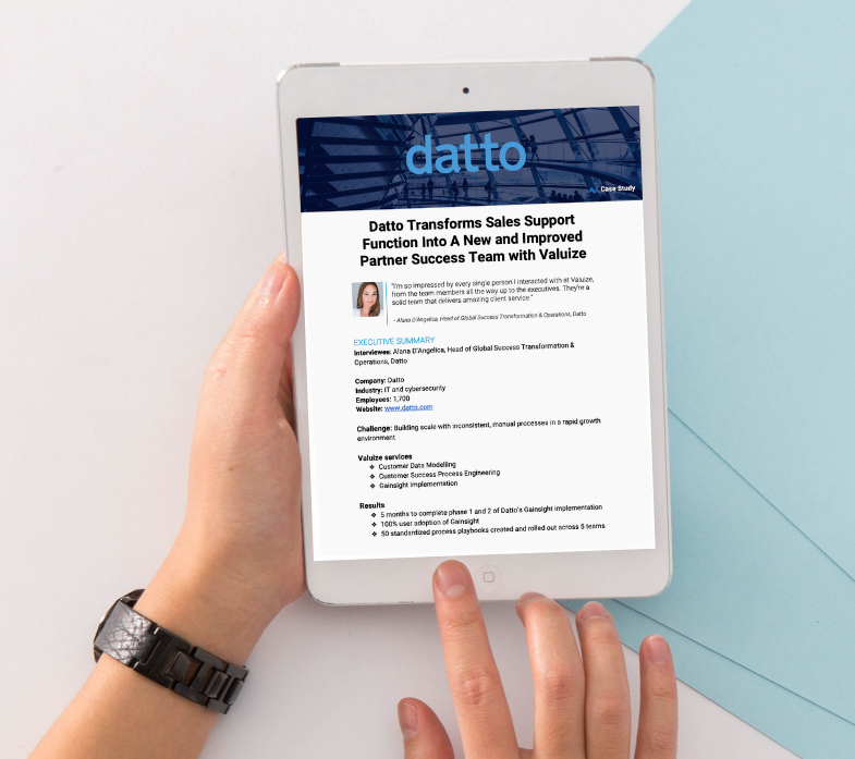 Datto Reimagines Customer Success With Valuize